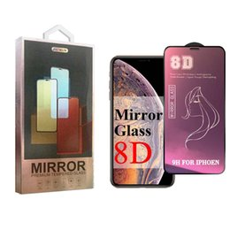 $enCountryForm.capitalKeyWord NZ - 8D Mirror Beauty Tempered Glass For iPhone XS MAX XR Screen Protector For Samsung S10E Make Up Protective Glass For Huawei P30 With Package