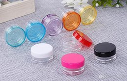 Cream Powders Australia - 10000 pieces lot 2g colorful jar mini sample refillable cosmetic cream jar empty powder bottle 2g lip blam jar