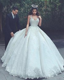 puffy corset wedding dress Australia - Princesses Ivory Ball Gown Wedding Dresses Saudi Arabia V Neck Applique Lace Pakistani Bridal Gowns Plus Size Puffy Corset Turkey 2019