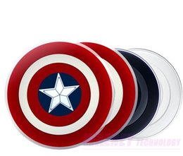 $enCountryForm.capitalKeyWord NZ - 250set lot Avengers Captain America Shield QI Wireless Charger Charging Pad For samsung Galaxy note iphone huawei xiaomi