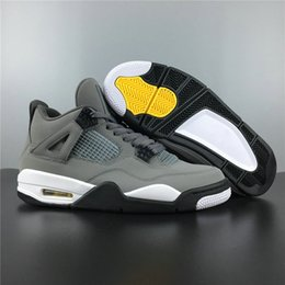 $enCountryForm.capitalKeyWord NZ - Highest Version 4 Cool Grey Dark Charcoal Varsity Maize Man Designer Basketball Shoes Best Quality Ship With Double Box Size US7-13