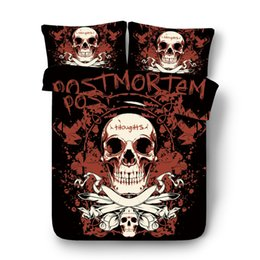 China 3D Mask of beauty comforter Bedding Sets 3D Print sugar Skull Design king size Duvet Cover Set Queen Full Size 200x200 bed set supplier black comforter bedding sets suppliers