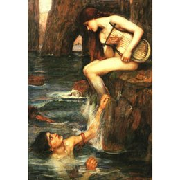 personalized figures Australia - High quality Oil Paintings of John William Waterhouse art The Siren canvas Hand painted Personalized Gift