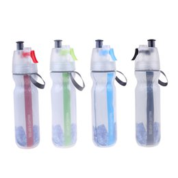 Discount green plastic spray bottles mist - 500ml Bicycle Water Bottle Plastic Bike Cycling Mist Spray Water Bottle Bicycle Accessories Red Green Blue Black