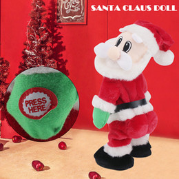 dance christmas ornament NZ - Electric Christmas Santa Claus Toy Shake Hips Dancing Music Gift for Children Kids QP2