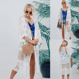 long sleeve smock dress 2020 - 2020 Suit-dress Sandy Beach Smock Long Fund Long Sleeve Lace Unlined Upper Garment cheap long sleeve smock dress