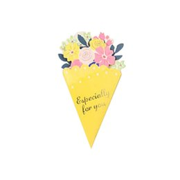 $enCountryForm.capitalKeyWord Australia - Mother'Day Flower Blessing Card three-dimensional Creative Blessing greeting Card Flower shape Birthday Gift decorative Paper Card