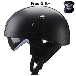 $enCountryForm.capitalKeyWord Australia - Half Face Vintage Motorcycle Helmet Retro German ,Cafe Racer,Scooter,Cruiser,Chopper gloss black,EPS lining,DOT approved
