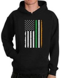 Idea bandeira americana Big Irish Day Hoodie presente do St. Patrick
