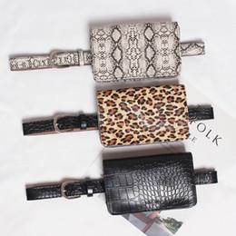 Color Leather Bags Australia - Travel Waist Pack Wallet PU Leather Waist Pouch Vintage Lady Fanny Pack Fashion Belt Bags Leopard Women Bag 3 color 504
