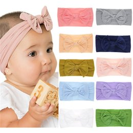 $enCountryForm.capitalKeyWord Australia - Juxu New Children Bow Nylon headwrap Princess Strong Stretchedable Hairbands Baby Knotted Bowknot Headbands kids accessories