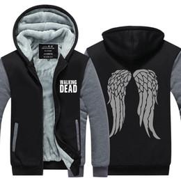 $enCountryForm.capitalKeyWord Australia - Men Casual Walking dead Sweatshirts Winter Cashmere Hoodie Zipper Jacket Leisure Sweatshirts Thicken Cardigan Coat USA EU Size