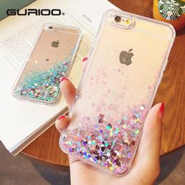 Iphone Plus Liquid Glitter Case Australia - Fashion Liquid Glitter Sand Mobile Phone Cases For Iphone 6 6s 5 5s Se 7 8 Plus X Xr Xs Heart Sequins Dynamic Plastic Soft Edge