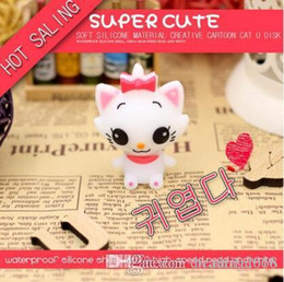 $enCountryForm.capitalKeyWord Australia - Cute Cartoon Cat USB Flash Drive Memory Stick Pendrive USB Stick Pen Drive 64GB 32GB 16GB 8GB 4GB Flash Card