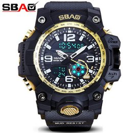Analog Double Digital Sports Watch Australia - Sbao S-8005-c Double Display Digital Men Watch Zegarki Damskie Multi Function Watches Male Outdoor Military Sport Montre Homme