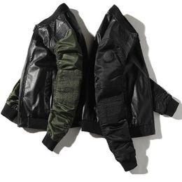 Wholesale men s mandarin collar suit for sale - Group buy 2019 winter youth new men s jacket coat top casual fashion stand collar baseball uniform pilot autumn Jacket Men s Suit