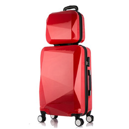 Spinner Carrying Case Australia - 2PCS SET 24inch Travel suitcase set trolley case Travel spinner luggage rolling suitcase Woman Cosmetic bag carry-on bag