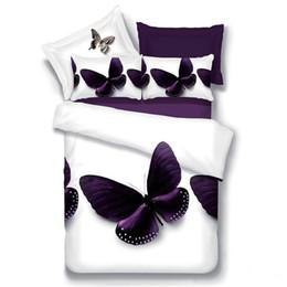 Butterfly sheet set queen size online shopping - 4pcs Home Textiles D bedding set butterfly Duvet Cover flower Bed Sheet queen size Soft football Printing Duvet Pillowcase
