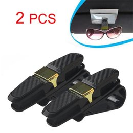 clip sun visors for cars Canada - New 2pcs 1Set Glasses Holders for Car Sun Visor Fine Good Sunglasses eyeglasses Mount Car Sunglasses Clips
