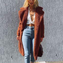 $enCountryForm.capitalKeyWord Australia - JAYCOSIN fashion Winter Long Lapel Jacket Womens Ladies Warm Faux Fur Coat Jacket Winter Solid Long Parka Outerwear coat Cool GF