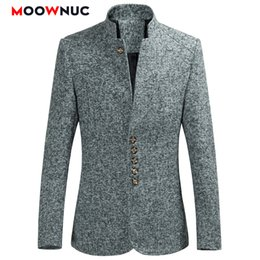 casual male fashion blue suit blazers Australia - Blazers Men Hot Sale Autumn Chinese style Casual Suits Large Size Male Spring Fashion Suits High Quality Coat Brand MOOWNUC 6XL SH190916