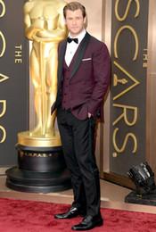 $enCountryForm.capitalKeyWord Australia - Hot Sale Burgundy Wedding Suits for Men 3 Pieces Mens Suits Groom Tuxedos Business Formal Suit Custom Made (Jacket+Pants+vest) YM