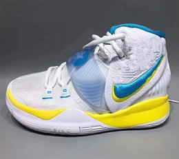 laser height Australia - 2020 KYRIES 6 Retro Logos NSW Bruce Lee With Box new men women White Sapphire Laser Crimson Basketball shoes store With Box US7-US12