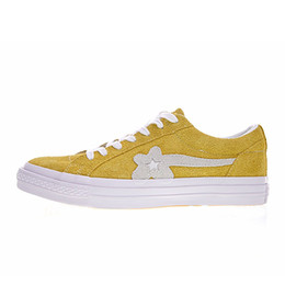 826a42239c3 New TTC The Creator x One Star Golf Ox Le Fleur Wang Suede Green Yellow  Beige Sunflower Casual Running Skate Shoes Sneakers 6 Colors Bag box