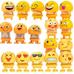 $enCountryForm.capitalKeyWord UK - Hot sale Emoji Shaking Head Doll Car Dashboard Ornaments Springs Dancing Toy Noverty Funny Toys Car Decoration Free Shipping