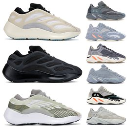 solid blue running shoes NZ - StockX kanye west 700 v3 azael alvah Reflective mens running shoes teal blue inertia mauve solid grey salt magnet women designer sneakers