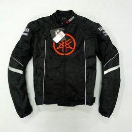 $enCountryForm.capitalKeyWord Australia - Summer mesh Motorcycle jackets Moto Racing Windproof Jackets fit for Yamaha motor With 5pcs Protector Men Jacket Chaqueta Black