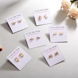 Golden Ear Studs NZ - Women Golden Cute Animal Stud Earrings for Girls Animal Butterfly Dragonfly Horse Owl Earrings Minimalist Stud Ear Jewelry Gifts
