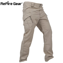 Full Military Gear NZ - Refire Gear Ix11 Urban Tactical Military Pants Men Swat Multi Pockets Army Combat Cargo Pants Casual Work Stretch Cotton Trouser Y19042201