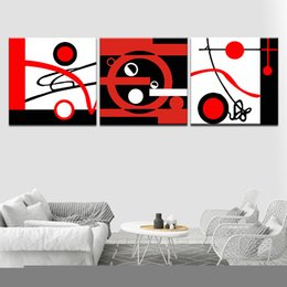 black diamond full Australia - 5D DIY Diamond Painting Abstract painting of red and white black Full Square Round Embroidery Sale Picture Diamond Mosaic