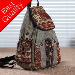 $enCountryForm.capitalKeyWord NZ - Nationally Backpack Female Printing Backpack Travel Vintage Canvas Mochila Fashion Bagpack For Girls Mochila Feminina Rucksack