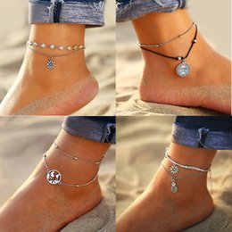 anklet Australia - IF YOU Bohemia Sunflower Pineapple Summer Beach Multilayer Anklets For Women Foot Chain Anklet Jewelry Bracelet On Leg 2019 New