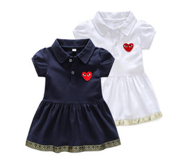 collared mid calf dress UK - 2020 New arrival Foreign skirt Short sleeve,embroidery, summer dress for and girls 650