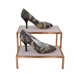 $enCountryForm.capitalKeyWord UK - Stainless Steel Table Shelf For Shoes Display Shelf Handbag Tray Bag Holder Display Stand Shoes Display Rack
