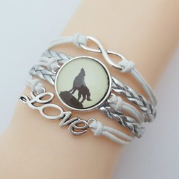 $enCountryForm.capitalKeyWord Australia - Infinity Wolf Bracelet Hot Sale German Shepherd Bracelet Charm Wolf Gift Bracelets Tibetan Wolf Bangle