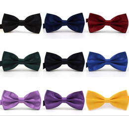Mens ties bowties online shopping - Solid Colors Trumpet Bow Ties For Weddings Fashion Man And Women Neckties Mens Bow Ties Leisure Neckwear Bowties Adult Wedding Bow Tie