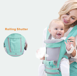 Hipseat Carrier Infant NZ - Aiebao Breathable Ergonomic Backpack Portable Infant Kangaroo Hipseat Heaps Baby Sling Carrier Wrap Q190529