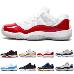 1d02f49390c3 NIKE Air Jordan 11 Retro 2018 Scarpe firmate HOT 11 Scarpe basse da basket  da uomo Scarpe sportive da esterno Gym Red Chicago Midnight Navy 11s luxury  ...
