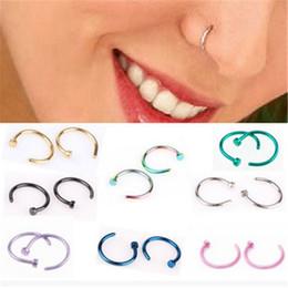 Medical Nose Australia - MISANANRYNE Fake Septum Medical Titanium Nose Ring Silver Gold Body Clip Hoop For Women Septum Piercing Clip Jewelry Gift 1pc