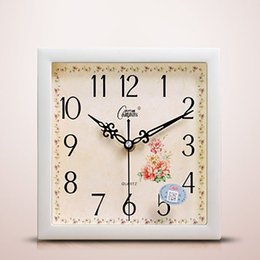 $enCountryForm.capitalKeyWord Australia - Bedroom Square Modern Wall Clock Modern Design Wooden Unique Decoration Wall Watch Digital Best Selling 2019 Products Clocks