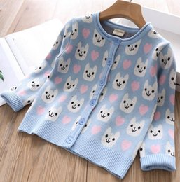 $enCountryForm.capitalKeyWord NZ - girls Cartoon Autumn cardigan 2019 New love heart animal pattern Kids knitted outwear children long sleeve sweater Tops Y2744