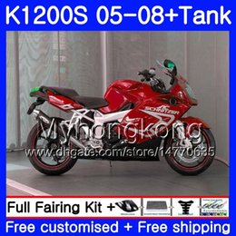 fairing bmw k Australia - Body +Tank For BMW K1200 S K 1200 S K1200S 05 06 07 08 09 10 Dark red black 311HM.30 K-1200S K 1200S 2005 2006 2007 2008 2009 2010 Fairings