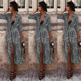Leopard Sexy Shirt Australia - 2019 Women Dresses Long Sleeve Dress Spring and Autumn Sexy and Elegant Dresses Leopard Print Long Sleeve Dress Shirt Collar Skirt