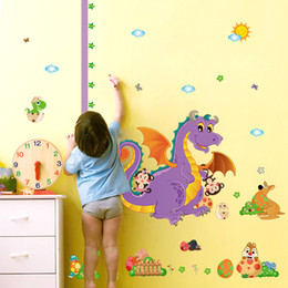 $enCountryForm.capitalKeyWord Australia - Retail 90 * 60cm wall stickers cartoon dinosaur animal height wall stickers children's bedroom can be removed wall stickers