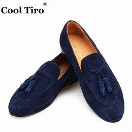 $enCountryForm.capitalKeyWord Australia - Navy blue Suede Belgian Loafers Tassels Men's Moccasins Slippers Smoking Man Flats Dress Shoes Casual Shoes Gentlemen