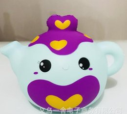 $enCountryForm.capitalKeyWord NZ - 10pcs-rare squishy jumbo Smiling face teapot Christmas gift 11*14cm kawaii Squishy, Cell Phone Straps wholesale FREE SHIPPING